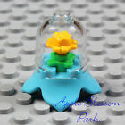 NEW Lego Minifig YELLOW ROSE DISPLAY Blue Azure Friends Minifigure Flower Case