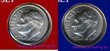 2009 P & D 2 Coin Roosevelt Dime Set Satin Finish Gem Bu No Reserve