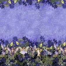 Cotton Fabric  Fat Quarter - Michael Miller - Flower Fairies Night Border Print