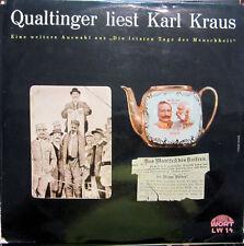 LP / QUALTINGER LIEST KARL KRAUS / AUSTRIA / RARITÄT / LW 14 /