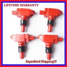 For 2004-2009 MAZDA RX8 RX-8 Ignition Coil Epoxy Red 4pcs UF501 JMD2875R*4 ic416