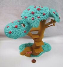FISHER PRICE Loving Family Dollhouse TREEHOUSE APPLE TREE FORT BACKYARD No Swing