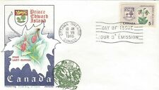 1965 Provincial Flowers #424Prince Edward Island FDC with Overseas Mailer cachet