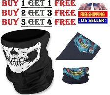 Skeleton Ghost Skull Face Mask Biker Balaclava Costume Halloween Cosplay COD