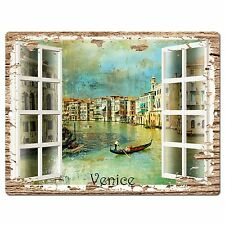 PP0591 French Window Venice Chic Sign Shop Store Cafe Home Room Kitchen Decor