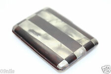 FRENCH RHODOID c1920s Faux TORTOISESHELL Mother Of Pearl Cigarette Case - Depose