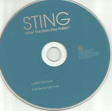 The Police STING After the Rain has Fallen 2 RARE EDITS TIN OUT PROMO CD Single