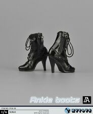"""ZYTOYS 1/6th Black High-Heel Boots Shoes Fit 12"""" Female PH Figure Body ZY16-28"""