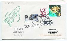 1999 Space Shuttle STS 103 Discovery Launch USA 32 Germany Space Cover SIGNED