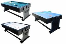 3 in 1 ROTATING COMBINATION MULTI GAME TABLE ~ POOL ~ AIR HOCKEY ~ PING PONG~NEW