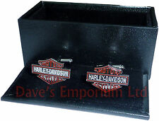 Harley Davidson Badge Cufflinks - Gift Boxed - Motorcycle Bike Biker Cuff Links