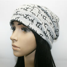 Unisex Men Women Soft Jersey Slouch Beanie Hat Winter Ski Warm Cap Baggy Cap New