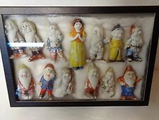 ViNTAGE LOT OF 13 BISQUE DOLLS SNOW WHITE & DWARFS ANTIQUE JAPAN, lot SW