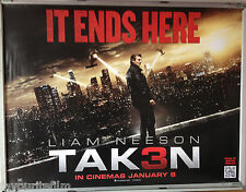 Cinema Poster: TAKEN 3 2015 (Quad) Liam Neeson Forest Whitaker Maggie Grace