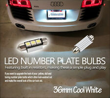 NUMBER PLATE BULBS LIGHTS LED WHITE XENON AUDI TT S3 A4 A5 TT 36MM CANBUS vw r32