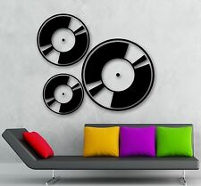 Wall Stickers Music Art Musician Record Disc Retro Style Vinyl Decal (ig989)
