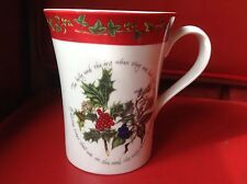 Portmeirion Holly And The Ivy Red Border 12oz  Brand New Mug Cup Coffee Tea