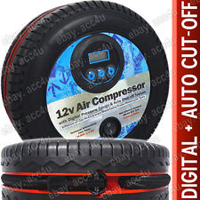 12v Car Compact Mini Tyre Shape Digital Gauge Air Compressor Inflator Pump SW15