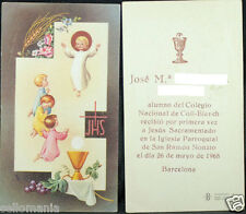 OLD FIRST COMMUNION REMEMBRANCE HOLY CARD YEAR 1968 ANDACHTSBILD SANTINI   C1070