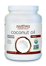 Nutiva Virgin Coconut Oil 78 oz organic COC784 best by 2018-11-10
