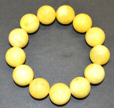 40.9g 17.5mm Egg Yolk Authentic Baltic Amber Beads Bracelet (mi la) AH405