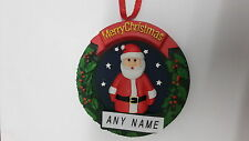 PERSONALISED SANTA CHRISTMAS TREE  DECORATION BAUBLE  ANY NAME STOCKING FILLER