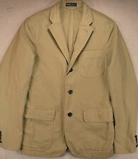 Polo Ralph Lauren Tan/Khaki Chino Sports Coat Jacket Blazer Custom Fit 44R 44 R