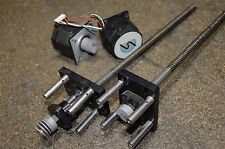 THK Linear Ball Screw Actuator FK8 & Stepper Motor Lot 12 1/2 Inches Long FK