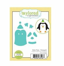 Taylored Expressions Cutting Die Set ROLY POLY ~ PENGUIN Circles, Critter ~TE700