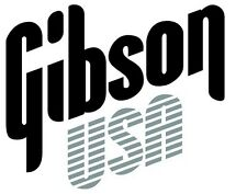 Gibson usa decal logo autocollant pour guitare hard case, amp cab, wall art, fenêtre