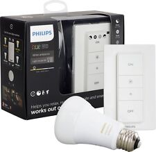 Philips - Hue 800-Lumen, A19 LED Light Bulb - White