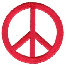 Red Cut Out Peace CND Sign Symbol embroidery patch