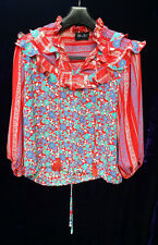 STUNNING 1980'S DIANE FRIES  UNIQUE BLOUSE  BOHO GYPSY PEASANT TOP SHIRT