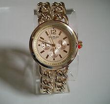 Designer gold finish bracelet chain style  Boyfriend fashion watch
