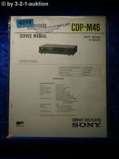 Sony Service Manual CDP M46 CD Player (#6218)