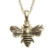 Cute Detailed Bumble Bee Pendant & Chain Gold Necklace