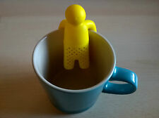 PERSON MAN SHAPED TEA INFUSER STRAINER (BRAND NEW) YELLOW