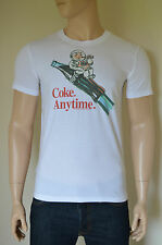 NEW Abercrombie & Fitch Coca-Cola Coke Vintage Graphic Tee T-Shirt White M
