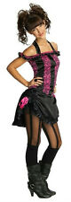 Rubies Costume Co Pink and Black Saloon Girl Tween Costume Size Teen Small 0-2