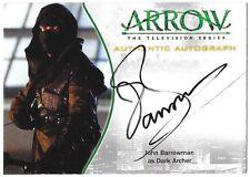 Arrow Season 1 Auto Autograph Card John Barrowman Dark Archer A11b A-11b