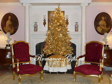Classic Champagne GOLD Slim Pre-Lit Christmas Tree 5 ft high
