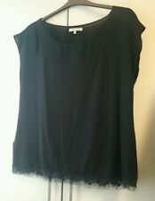 Laura Ashley Black Chiffon And Lace top Size 18 but fits 14-16