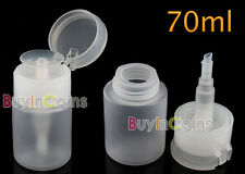 70ML Plastic Nail Art Pump Dispenser Spray Bottle New Remover Polish Varnish NEW