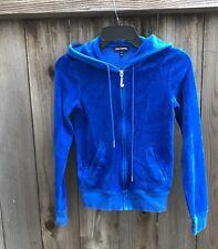 Black label Juicy Couture Blue Size XS Velour Hoodie Jacket