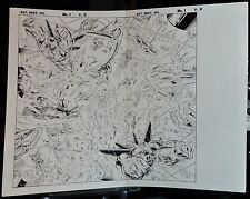 EXTREME DESTROYER: EPILOGUE PAGES 2 & 3 1996 ORIGINAL ART SPLASH-MOTA & ALQUIZA
