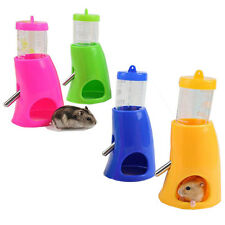 2 in 1 Hamsters Water Bottle Holder Dispenser Base Hut Small Animal Hideout