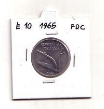 Repubblica Italiana 10 lire 1965    Spighe  Italma     FDC    (m873)