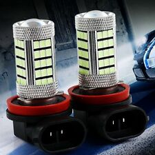 2X H8 / H11 SUPER BRIGHT Fog Lamp Bulbs 66 CREE LED PROJECTOR LENS WITH FLASH