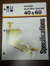 Hyster Lift Truck Brochure~Electric Walkie W40 W60 BL BF~Catalog Insert 1976