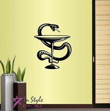 Vinyl Decal Medical Symbol Snake Wrapping Goblet Doctors Office Clinic Decor 509